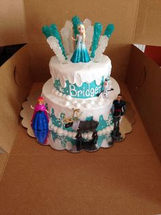 Frozen Birthday Cake with rock candy!!