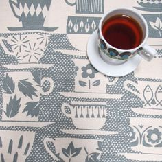 {Tea towel - Everyone Came to Tea} by skinnylaminx - perfect for teatime!