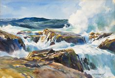 Outer Rocks, ca. 1940s-1950s  Watercolor on paper | John Whorf