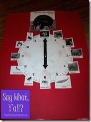 grouchy ladybug - using a clock to teach the sequence - love it!