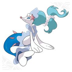 Primarina- Water/Fairy type with the Torrent ability. Primarina learns its own signature move: Sparkling Aria which heals the burns of the pokemon it hits.