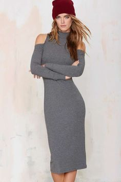 Nasty Gal Line It Ribbed Midi Dress | Shop Clothes at Nasty Gal!