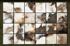 """London Design Festival 2016: Turner Prize-winning collective Assemble has produced ceramic tiles that were """"smoked"""" in a barbecue, as part of their ongoing Granby Workshop project."""