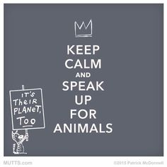 Keep calm and speak up for animals. It's their planet too #vegan