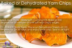 Ashy Bines - Make your own Chips! Sweet Potato also known as Yams, are an amazing complex carbohydrate and so delicious! Best Movie night snack ever! Raw Vegan Recipes, Clean Recipes, Whole Food Recipes, Healthy Recipes, Paleo, Clean Meals, Healthy Options, Vegan Food, Healthy Baking