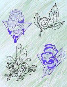 Flower Tattoo Drawings, Moose Art, Tattoos, Flowers, Pattern, Yarns, The Creation, Tatuajes, Tattoo