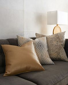 Shop Cressida Pillows from D. Kap Home at Horchow, where you'll find new lower shipping on hundreds of home furnishings and gifts. Cheap Throw Pillows, Red Pillows, Cushions On Sofa, Classy Living Room, Home Living Room, Cute Cushions, My Furniture, Pillow Sale, Decorative Pillows