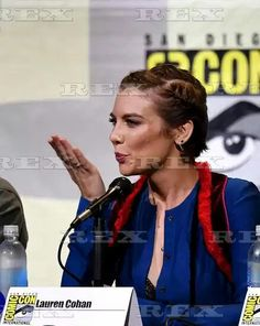 'The Walking Dead' TV series panel, Comic-Con International, San Diego, USA - 22 Jul 2016  Lauren Cohan  22 Jul 2016