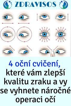 4 oční cvičení, které vám zlepší kvalitu zraku a vy se vyhnete náročné operaci očí Weight Loss, Losing Weight, Loosing Weight, Loose Weight