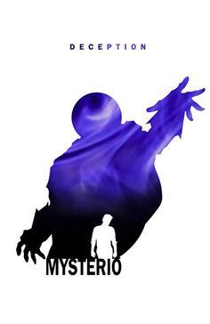 Superhero Silhouette: Mysterio