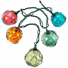 Love the wire wrapped kights   Wilson & Fisher® 10-Count Wire Globe String Lights at Big Lots.