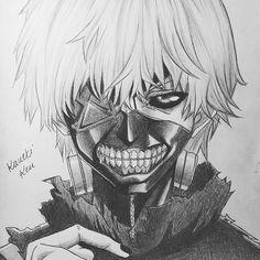 Kaneki Ken - Tokyo Ghoul Drawn by @arteyata (Twitter)