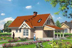 Zgrabny dom dla 4-osobowej rodziny, nieskomplikowany w budowie, jednak zaprojektowany z dużą dbałością o detal i ogólne wrażenie.