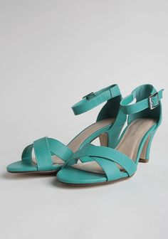 Belle Rives Heels In Teal at #Ruche @shopruche