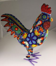 Huichol Beaded Rooster