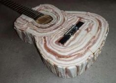 Bacon Guitar... mmm 2 big slices of bread and sorted
