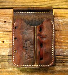 Upcycled Antique Baseball Glove Leather Wallet, No. 69 by JB Leatherworks on Scoutmob