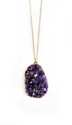 BRAZIL amethyst druzy necklace by keijewelry on Etsy