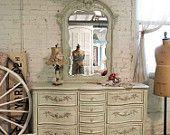 Pintado Casa Chic Dresser Sábio gasto romântico