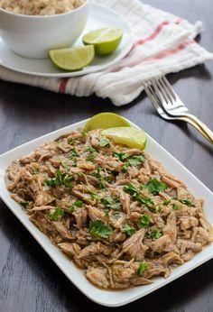 An easy dinner for Cinco de Mayo! Easy Salsa Verde Slow Cooker Pulled Pork