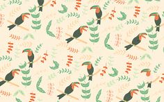 repeat pattern of the toucans // naomi wilkinson