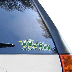 Oregon Ducks Family Car Decal Sheet