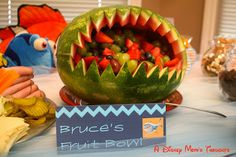 A Disney Mom's Thoughts: Finding Nemo First Birthday Party Food, Bruce's Fruit Bowl