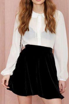 Underground Velvet Skirt