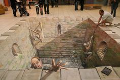 pavement chalk art