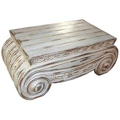 Painted Thalia Coffee Table ($1,895) ❤ liked on Polyvore featuring home, furniture, tables, accent tables, rectangle coffee table, white accent table, wooden accent table, antique white coffee table and rectangular coffee table