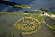 Land Art in the Biesbosch, Netherlands, Paul de Kort