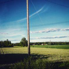 Maalaismaisemia pyörälenkin varrelta. #Nurmijärvi