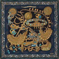 """55"""" x 55"""" shawl Hermès   Zénobie, Reine de Palmyre"""