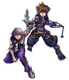 Sora & Riku from Kingdom Hearts Union χ [Cross]