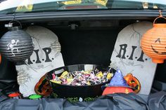 halloween trunk or treat rip graveyard cemetary theme decoration