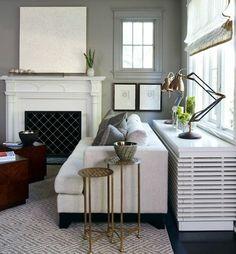 cache radiateur fonte pour le salon moderne