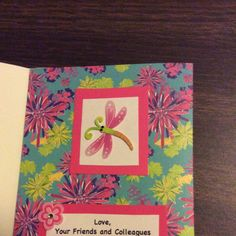 """JMH-Inside of card that says """"Love your friends and colleagues at...."""""""