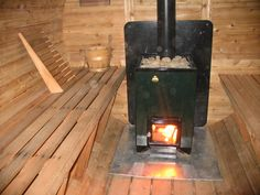 Get stylish, durable and economical, the special quality wood fired or burning sauna heater at Cedar Barrel Saunas. Their sauna heaters have a large stone chamber and fire surface area for excellent heat storage capacity.