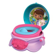 Disney Baby Toilet Training Children Potty Trainer Seat Chair, Doc McStuffins