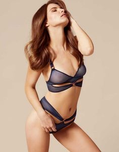 b67a2e6bdd Shop Bar Bra in Navy by Agent Provocateur. Discover The Autumn 2016  Lingerie