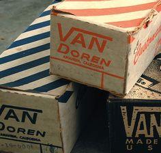 vintage Van's boxes