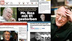 Ikea-grundaren Ingvar Kamprad död – hyllas i världen Alter, Ikea, Money