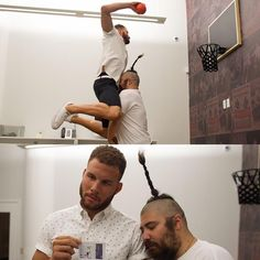 Blake Griffin and I played a game of mini basketball, and he told me he that he was going to take it seriously...