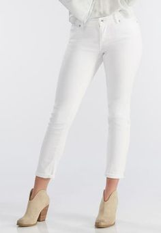 Cato Fashions Broken Twill Skinny Ankle Jeans  #CatoFashions