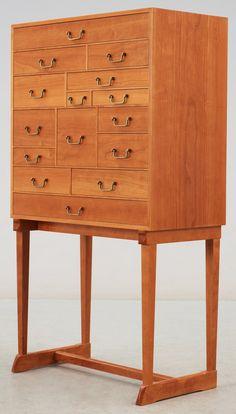 A Josef Frank mahogany cabinet, Svenskt Tenn, model 2030.