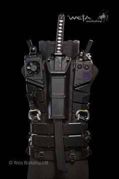 Combat Armor, Combat Gear, Ninja Weapons, Weapons Guns, Weapon Concept Art, Armor Concept, Suit Of Armor, Body Armor, Fantasy Armor