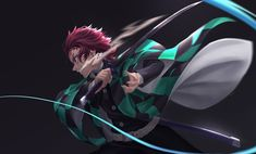 Kamado Tanjirou from Demon Slayer Manga Anime, Anime Demon, Anime Naruto, Anime Guys, Sasuke, Demon Slayer, Slayer Anime, Anohana, Samurai
