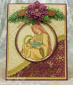 ODBDSLC264 Our Daily Bread Designs Samp sets: Mother & Child Ornament, Blessed Christmas, Our Daily Bread Designs Custom Dies:Leafy Edged Border, Peaceful Poinsettia, Merry Mosaics, Lovely Leaves, Pinecones, Circle Ornaments, Matting Circles, Our Daily Bread Designs Paper Collection:Christmas 2015