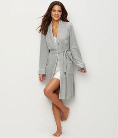 Lauren Ralph Lauren: Hartford Lounge Shawl Collar Knit Robe