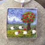 Felt Pendant by Aileen Clarke Crafts. I will make this one - C